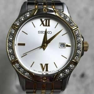 ⌚Seiko 6N22-00B0 Swarovski Women's Watch A305⌚